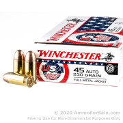 500 Rounds of 230gr FMJ 45 ACP Ammo by Winchester
