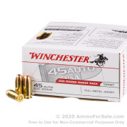 200 Rounds of 230gr FMJ .45 ACP Ammo by Winchester