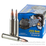 20 Rounds of 62gr SP .223 Ammo by Silver Bear