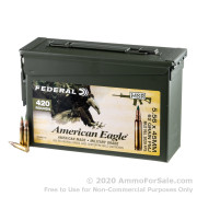 420 Rounds of 62gr FMJBT XM855 5.56x45 Ammo by Federal in Ammo Can