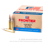 150 Rounds of 55gr FMJ M193 5.56x45 Ammo by Hornady