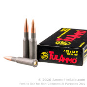 20 Rounds of 148gr FMJ 7.62x54r Ammo by Tula