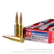 20 Rounds of 129gr InterLock 6.5 Creedmoor Ammo by Hornady