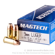 50 Rounds of 95gr JSP 9mm Ammo by Magtech