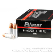 50 Rounds of 147gr FMJ 9mm Ammo by Blazer