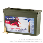420 Rounds of 55gr FMJBT 223 Rem Ammo by Federal in Ammo Can
