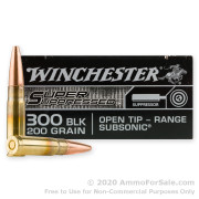 20 Rounds of 200gr Open Tip .300 AAC Blackout Ammo by Winchester