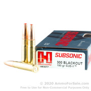20 Rounds of 190gr Polymer Tipped .300 AAC Blackout Subsonic Ammo by Hornady