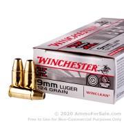 500  Rounds of 124gr BEB 9mm Ammo by Winchester