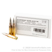 1000 Rounds of 148gr FMJ 308 Win Ammo by German Military Surplus