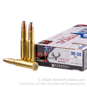 20 Rounds of 150gr SP 30-30 Win Ammo by Federal