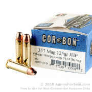 20 Rounds of 125gr JHP .357 Mag Ammo by Corbon