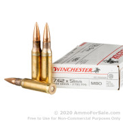 20 Rounds of 149gr FMJ M80 7.62x51 Ammo by Winchester