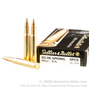 20 Rounds of 150gr SPCE 30-06 Springfield Ammo by Sellier & Bellot