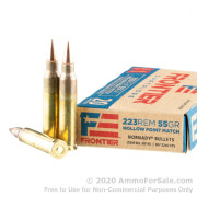 20 Rounds of 55gr HP Match .223 Ammo by Hornady