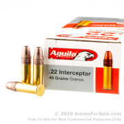 500 Rounds of 40gr CPSP 22 LR Ammo by Aguila
