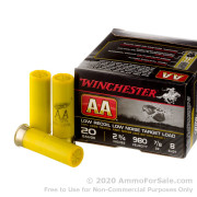25 Rounds of 7/8 ounce #8 shot 20ga Ammo by Winchester AA Low Recoil Target