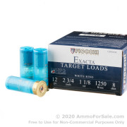 250 Rounds of 1 1/8 ounce #8 shot 12ga Ammo by Fiocchi