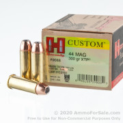 20 Rounds of 300 gr XTP JHP .44 Mag Ammo by Hornady Custom