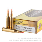 20 Rounds of 80gr Polymer Tipped .243 Win Ammo by Black Hills Gold Ammunition