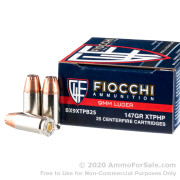 25 Rounds of 147gr JHP 9mm Ammo by Fiocchi