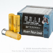 """250 Rounds of 2-3/4"""" 1 ounce #8 shot 20ga Ammo by Federal Heavy Field Load"""