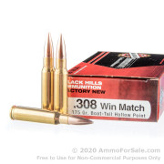 20 Rounds of 175gr HPBT .308 Win Ammo by Black Hills Match Ammunition