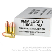 1000 Rounds of 115gr FMJ 9mm Ammo by Blazer