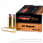 1000 Rounds of 158gr JSP .357 Mag Ammo by PMC