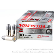 50 Rounds of 145gr LRN .38 S&W Ammo by Winchester Super-X