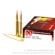 20 Rounds of 140gr SST .270 Win Ammo by Hornady Superformance