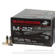 500 Rounds of 40gr CPRN .22 LR Ammo by Winchester M22