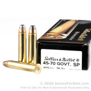 20 Rounds of 405gr SP .45-70 Government Ammo by Sellier & Bellot