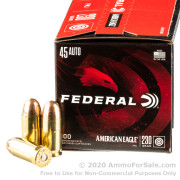 500  Rounds of 230gr FMJ .45 ACP Ammo by Federal