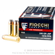 50 Rounds of 240gr JSP .44 Mag Ammo by Fiocchi