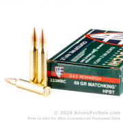 20 Rounds of 69gr HPBT .223 Ammo by Fiocchi