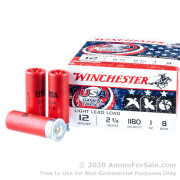 250 Rounds of 1 ounce #8 shot 12 Gauge Ammo by Winchester