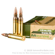 30 Rounds of 55gr FMJ 5.56x45 Ammo by Israeli Military Industries