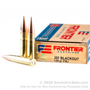 20 Rounds of 125gr FMJ 300 AAC Blackout Ammo by Hornady