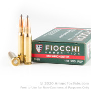 20 Rounds of 150gr PSP .308 Win Ammo by Fiocchi