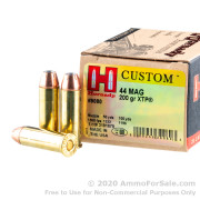 20 Rounds of 200gr JHP .44 Mag Ammo by Hornady