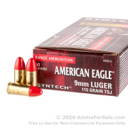 50 Rounds of 115gr Total Synthetic Jacket 9mm Ammo by Federal