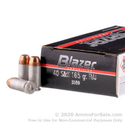 1000 Rounds of 165gr TMJ .40 S&W Ammo by CCI