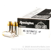 500 Rounds of 185gr BJHP 45 ACP +P Ammo by Remington