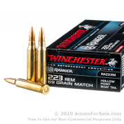 20 Rounds of 69gr HPBT .223 Ammo by Winchester Ranger