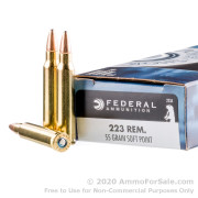 20 Rounds of 55gr SP .223 Ammo by Federal