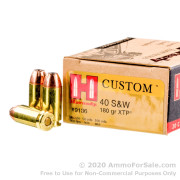 200 Rounds of 180gr JHP .40 S&W Ammo by Hornady