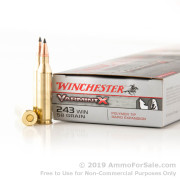 40 Rounds of 58 Grain Polymer Tipped .243 Win Ammo by Winchester