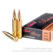 1000 Rounds of 55gr FMJBT .223 Ammo by PMC