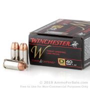 20 Rounds of 180gr JHP .40 S&W Ammo by Winchester